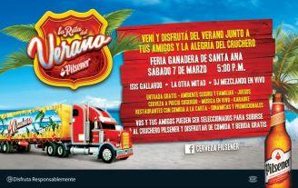 evento pilsener Feria ganadera 2015 de Santa ana