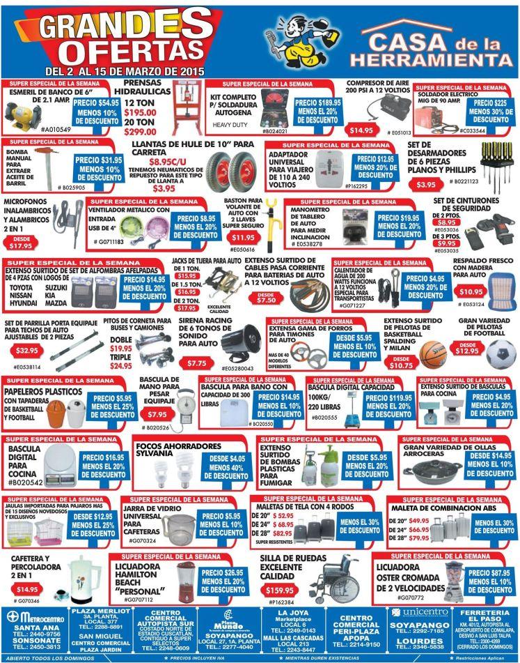 grandes ofertas en marzo casa de la herramienta