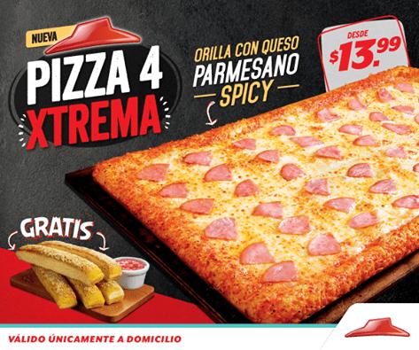 new pizza Xtreme for PIZZA HUT por solo 13.99 de dolar