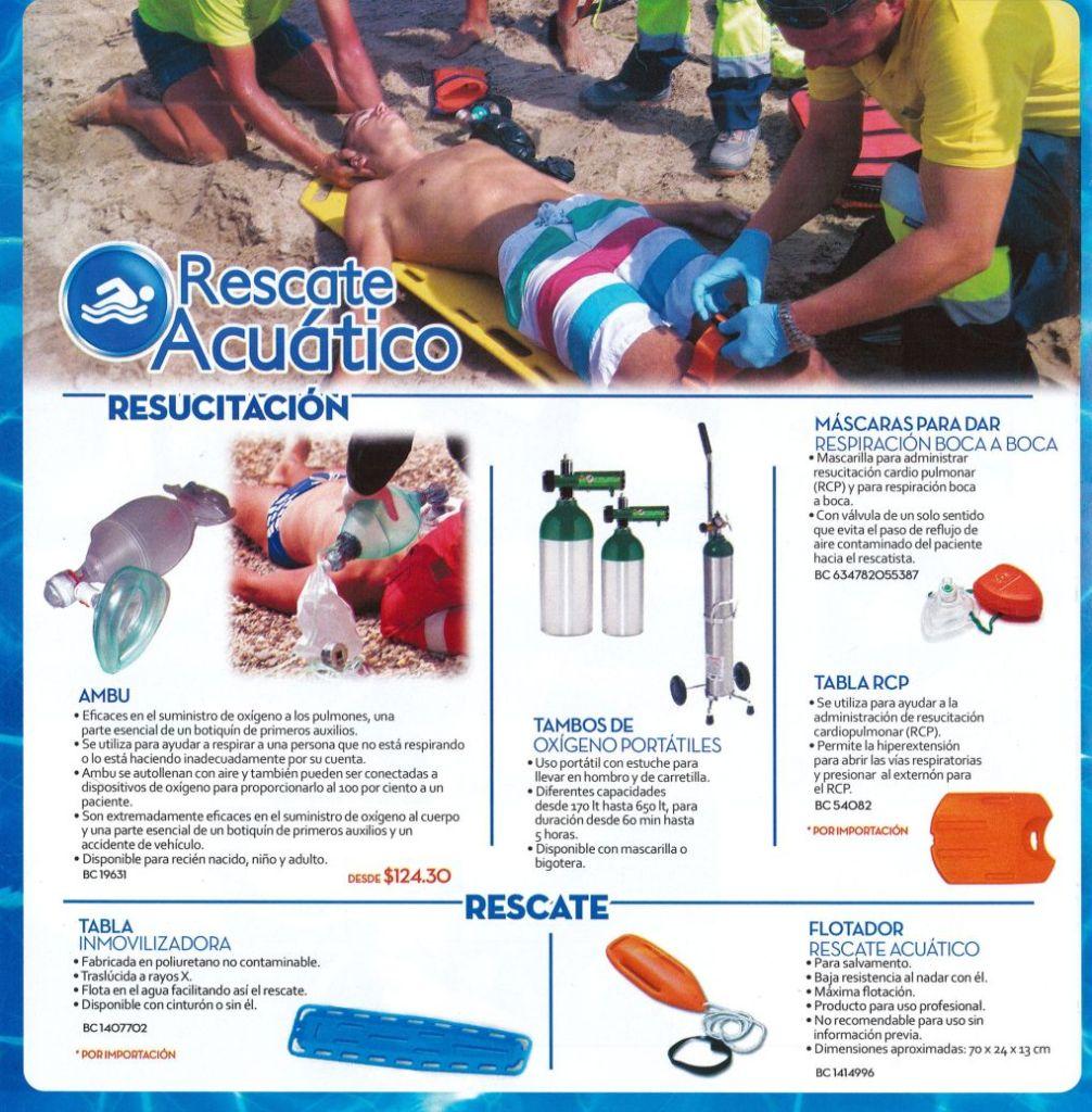 productos para Rescate acuatico y resucitacion