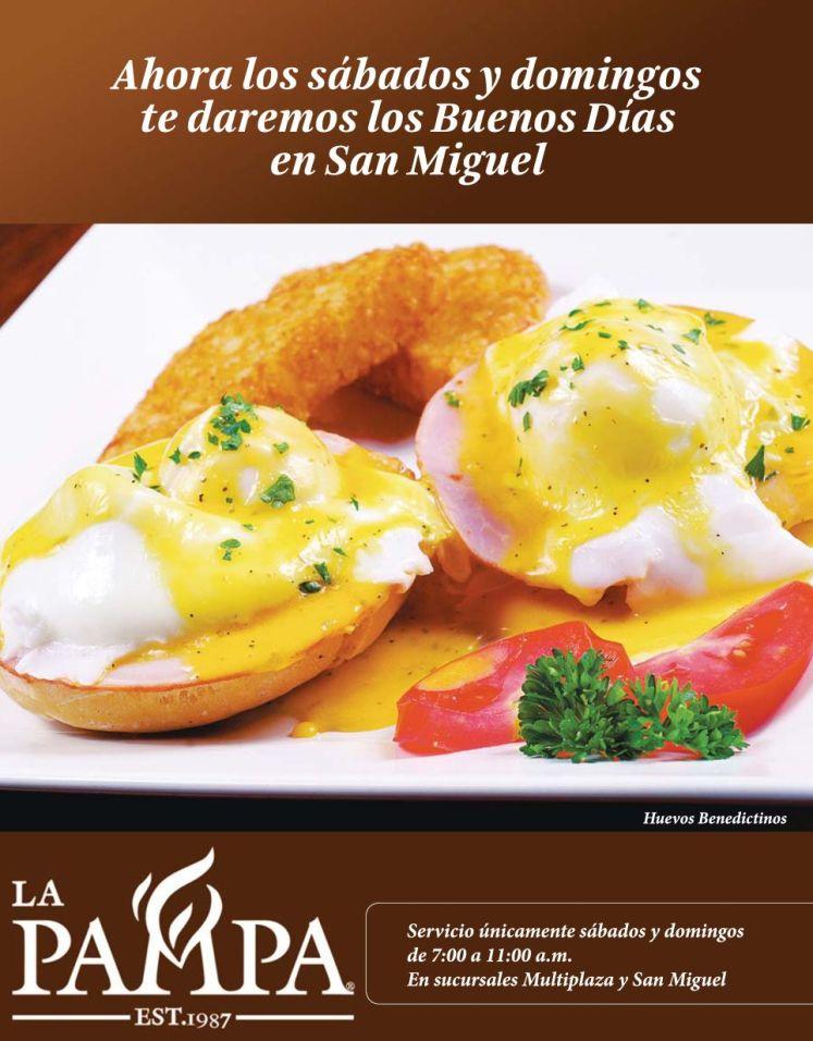 san miguel disfruta con los Desayunos en LA PAMPA