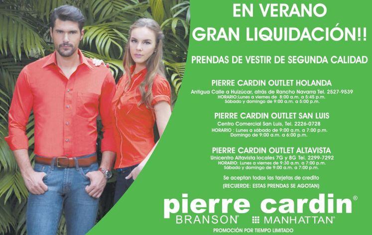 summer LIQUIDACION en ropa pierre cardin BRANSON and MANHATTAN brands