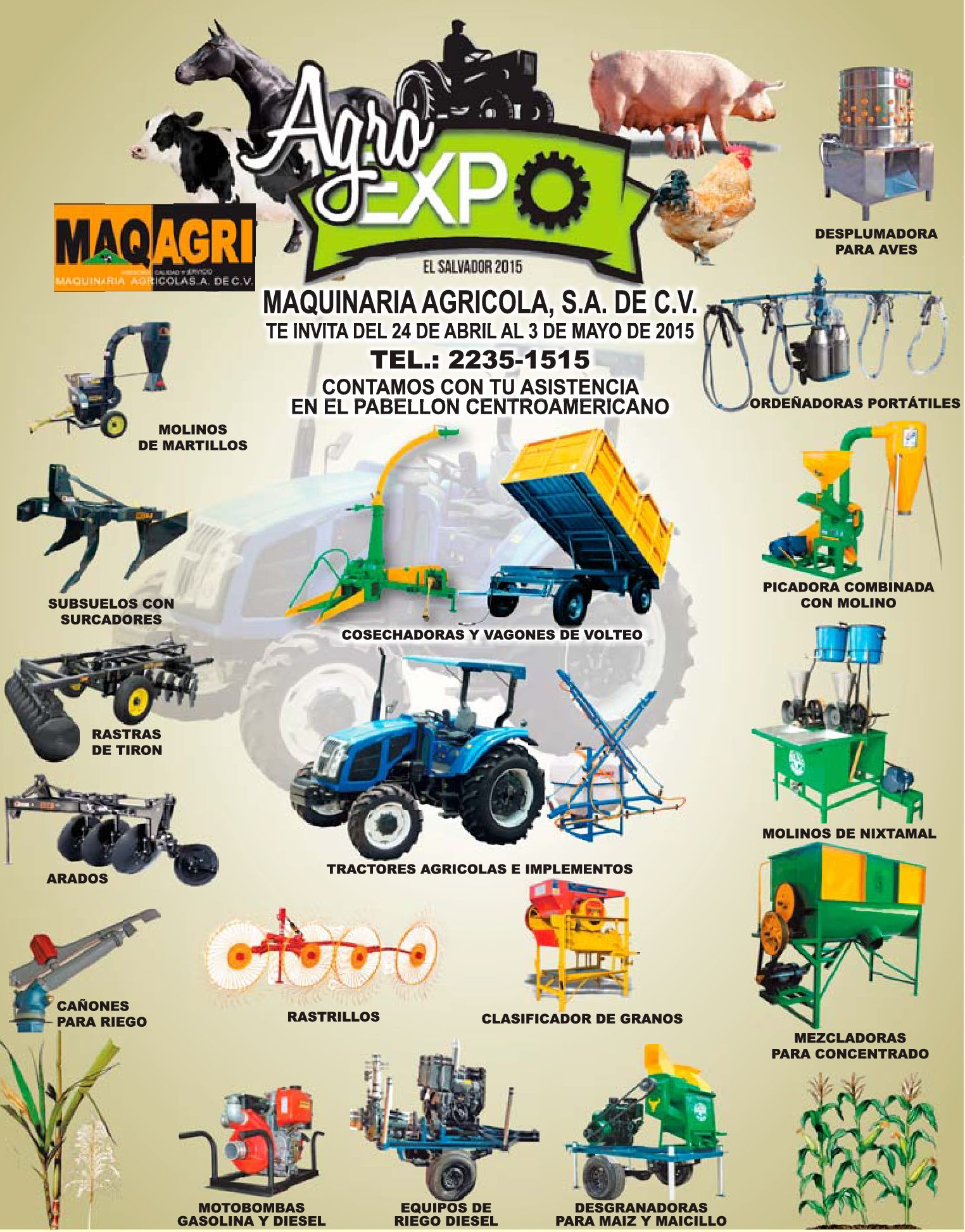 Agro EXPO 2015 maquinaria industrial agricola