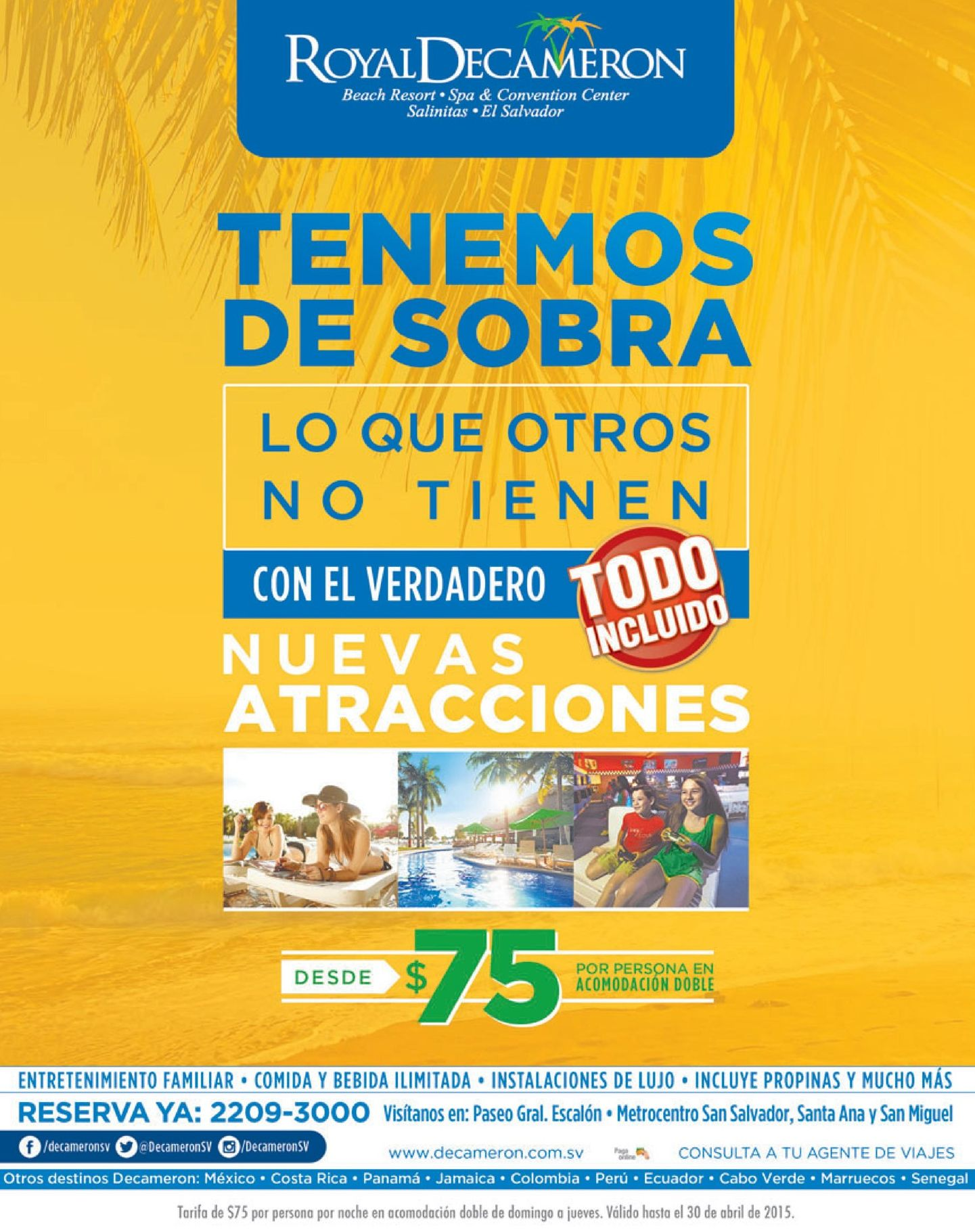 All inclusive promotions ROYAL DECAMERON new attractions