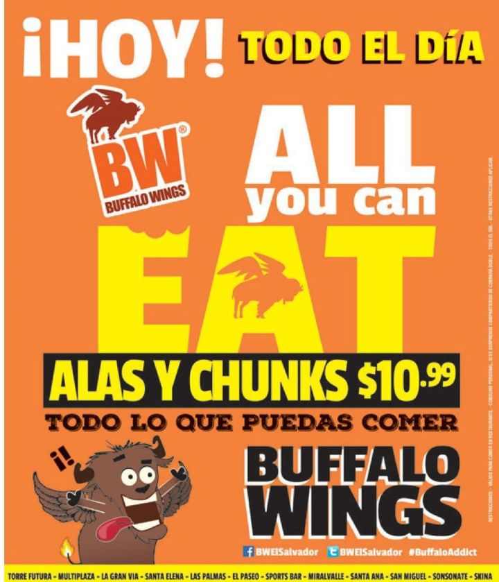 All you can eat ALAS y CHUNKS a comer - 29abr15