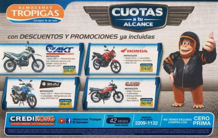 Credito para comprar tu MOTO en almacenes tropigas - 17abr15