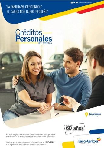 Credito perosnales para comprar auto nuevo via Banco Agricola