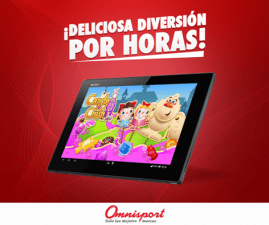 Encuentra TABLET en omnisport y juega CANDY CRUSH SODA SAGA
