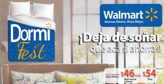 Especial de camas DORMI FEST walmart abril 2015