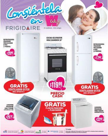 FRIGIDAIRE lavadoras secadoras refrigeradoras todo con descuento WAY - 30abr15