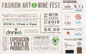 Fashion ART and WINE Fest drinkIT elsalvador