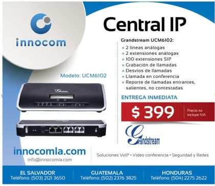 Grandstream UCM6102 central telefonia IP