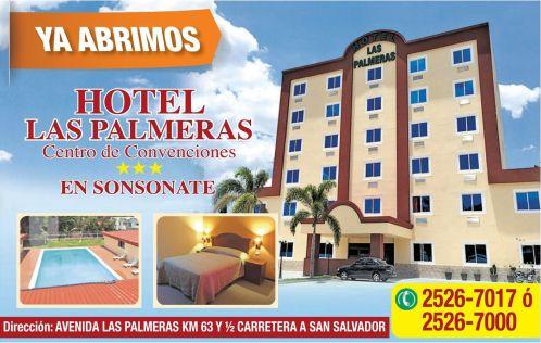HOTEL las palmeras SONSONATE centro de convenciones