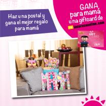 Haz una postal con MAMA y gana GIFT CARD de la curacao online