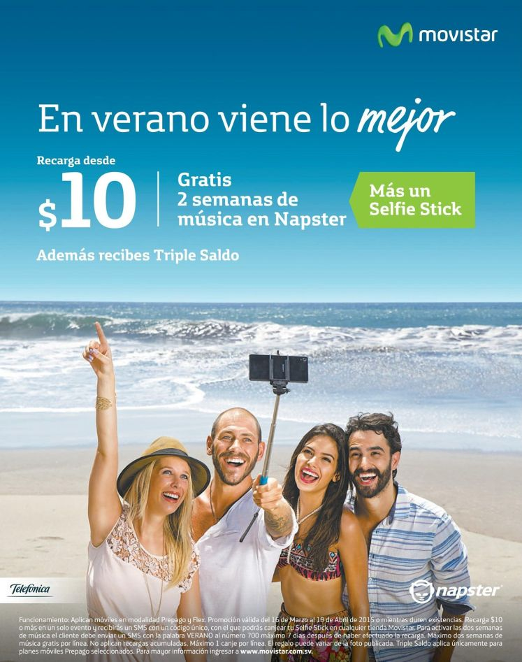 MOVISTAR sigue regalando musica GRATIS via napster - 07abr15