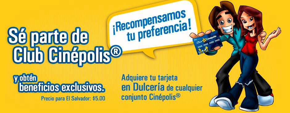 Membership card CLUB CINEPOLIS el salvador