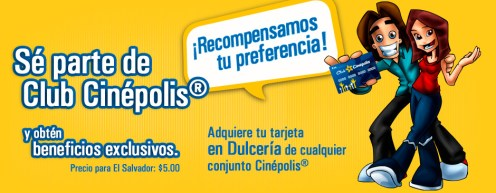 Membership card CLUB CINEPOLIS el salvador