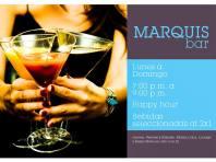 Musica y Bebidas al 2x1 en MARQUIS Bar hotel sheraton