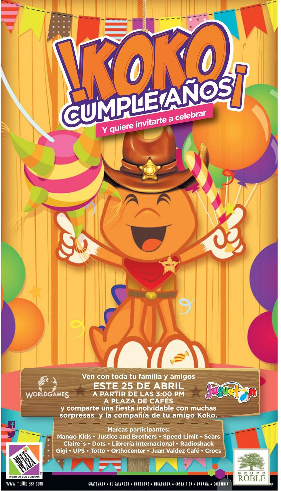 Party for KIDS on multiplaza KOKO cumple años