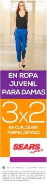 SEARS promocion 3x2 en ropa juvenil para damas - 17abr15