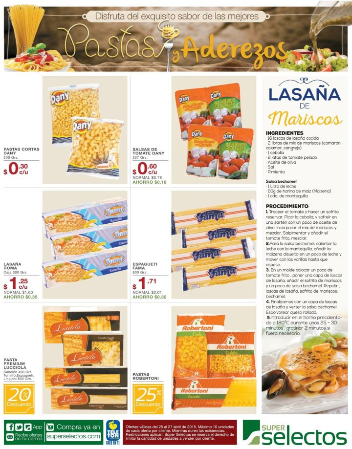 Super selectos festival de pastas y aderezos - 25abr15