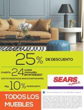 Todos los muebles con DESCUENTOS en SEARS - 25abr15
