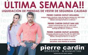 Ulitma semana liquidacion de prendas de vestis PIERRE CARDIN - 23abr15