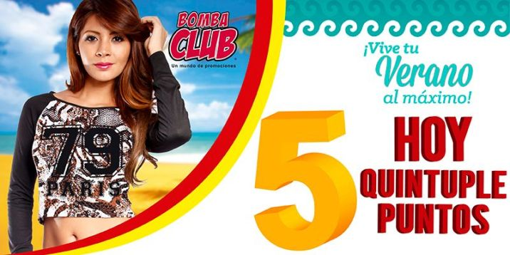 almacenes BOMBA CLUB ahora quintuple puntos por tus compras