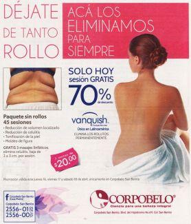 elimina estos rollos de tu cintura SOLO HOY sesion gratis CORPOBELO - 16abr15