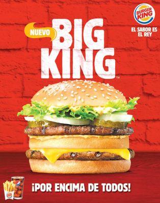 new BURGER BIG KING el sabor es rey