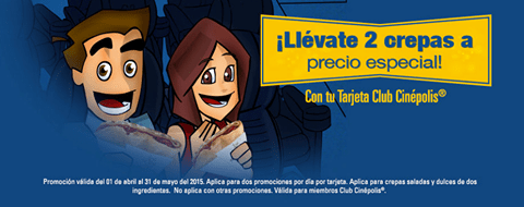 promociones tarjeta CLUIB CINEPOLIS