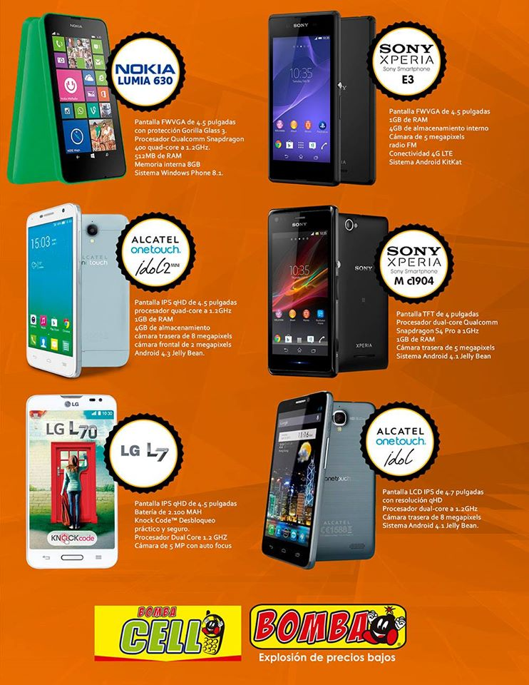 BOMBA CELL store smartphones phablets and more technology