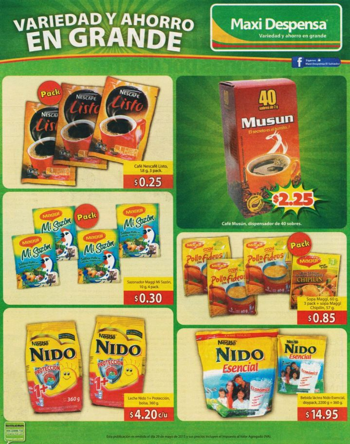 CAFE y LECHE en polo instantaneo ofertas maxi despensa - 29may15