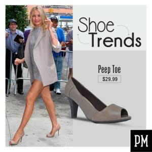 Cameron Diaz SHOE TREND Peep Toe style fashion elegant