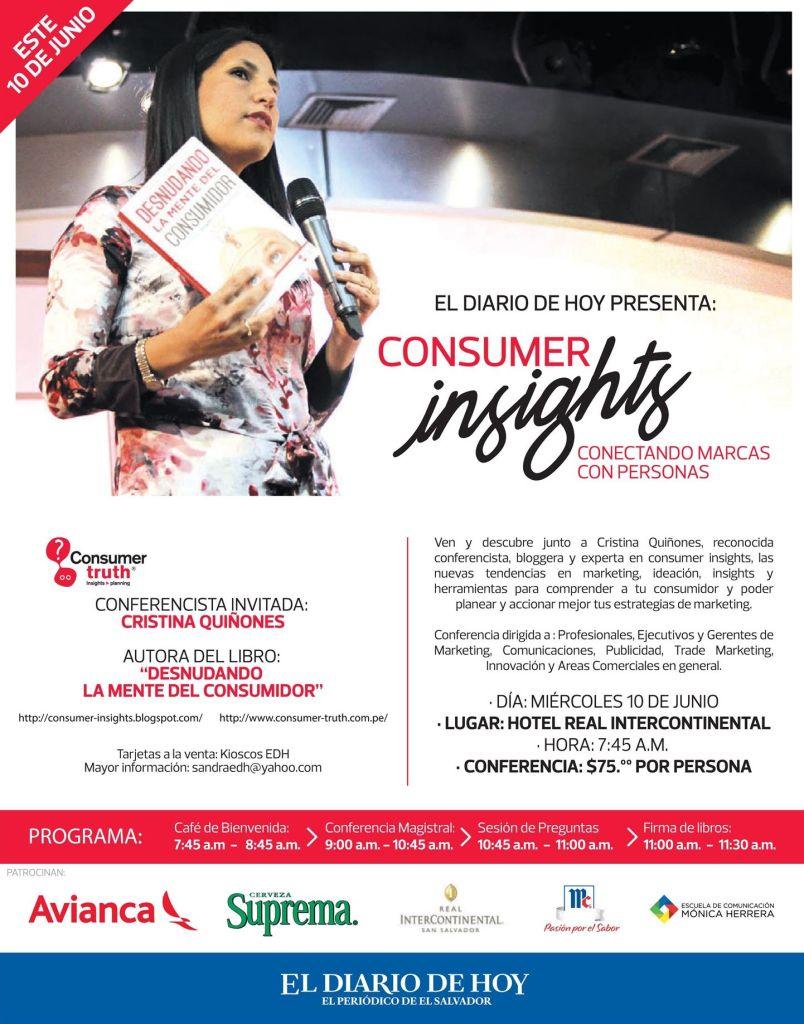 Consumer INSIGHTS conectando marcas con personas - 13may15