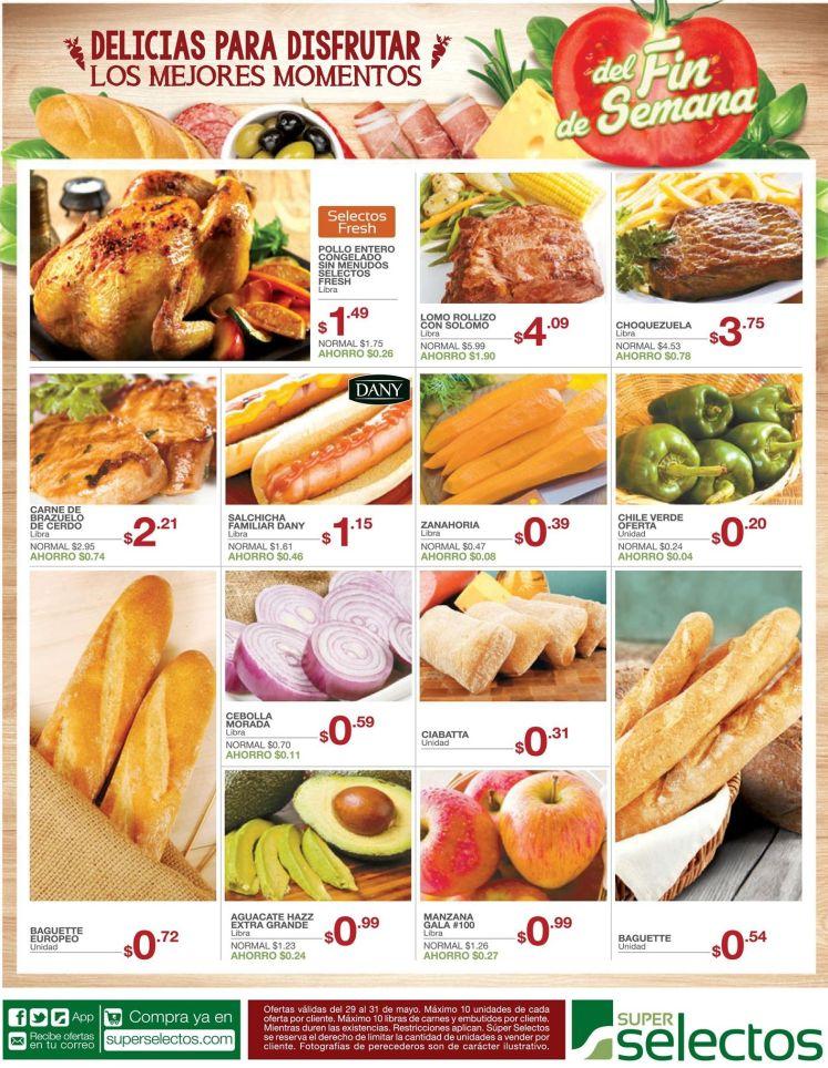 Delicias para comer y disfrutar el fin de semana SUPERSELECTOS - 29may15
