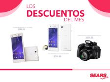 Descuentos del MES mayo SEARS camaras canon y celulares sony