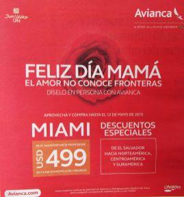Descuentos especial para MAMA en viajes a MIAMI con avianca - 09may15