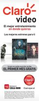 FREE month suscription to CLARO VIDEO movies series streaming