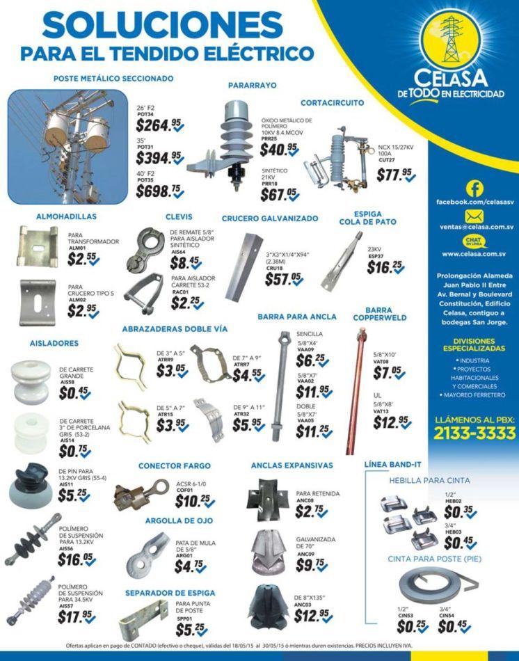 High voltage accesories supply CELASA elsalvador