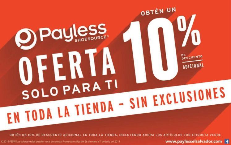 OFERTA toda la tienda PAYLLES con 10 OFF adicional sin exclusiones - 29may15
