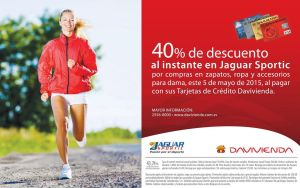 OJO 40 off al instane en JAGUAR SPORTIC - 05may15