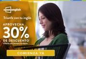 OPEN english descuento 30 OFF triunfa con tu ingles