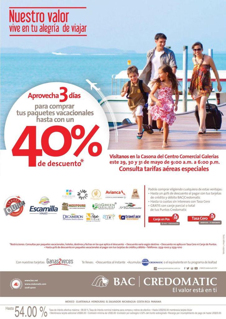Paquetes de vacaciones con 40 OFF de descuento comprar hoy mismo - 28may15