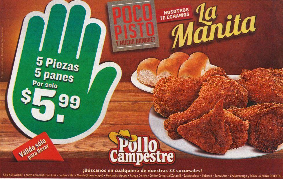 Pollo campestre te hecha la manita con esta PROMO - 26may15