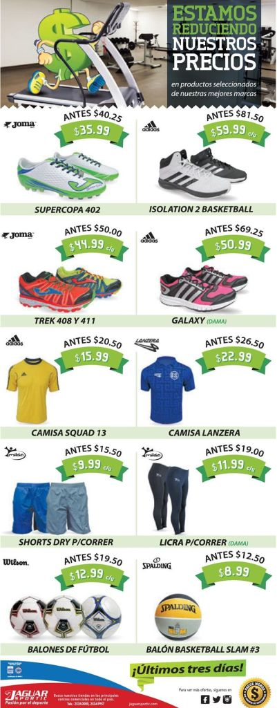 RUNNERS apparel and shoes Jaguar Sportic OFERTAS - 29may15