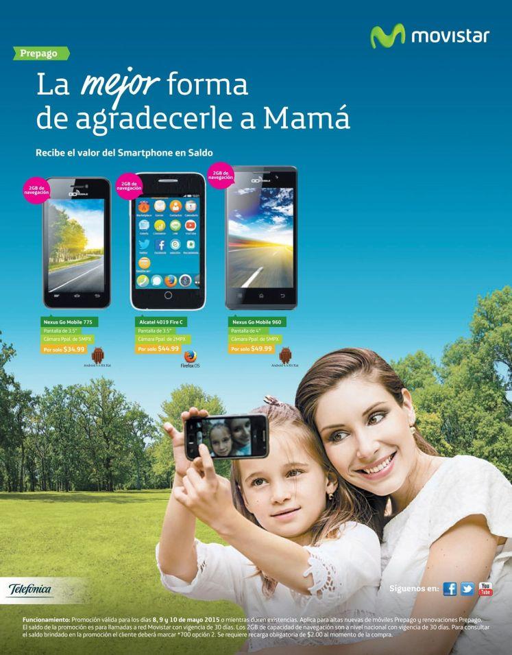 Regalale a mama un celular nuevo de MOVISTAR ofertas - 08may15