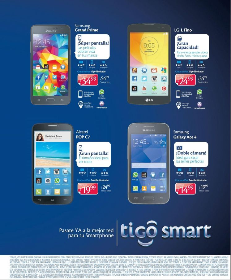 SALE WEEK for smarthones ALCATEL SAMSUNG LG SONY