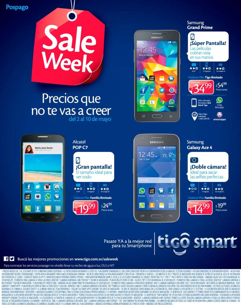 Semana ideal para adquirir tu nuevo plan de celular TIGO ofertas - 04may15