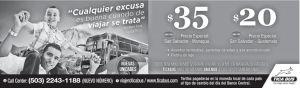 TICA BUS precios bajos en viajes a nicaragua y guatemala